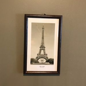 Paris print black and white